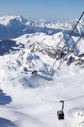 Overhead Cable Car「verbier ski station. switzerland」:スマホ壁紙(6)