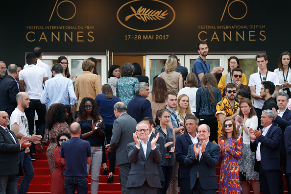 Palais des Festivals et des Congres「Cannes Film Festival Hold Minutes Silence For The Victims Of The Manchester Terror Attack - The 70th Annual Cannes Film Festival」:写真・画像(6)[壁紙.com]