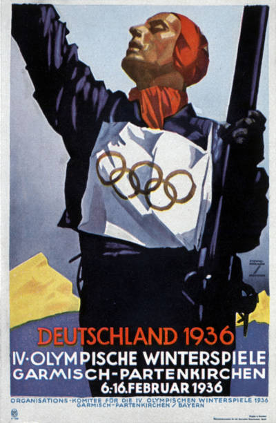 Poster for the Olympic Winter Games in Garmisch Partenkirchen in Germany in 1936:ニュース(壁紙.com)