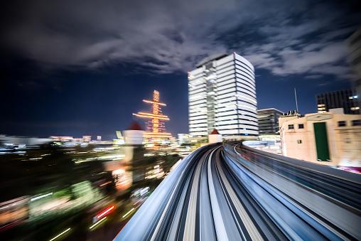 Horizontal「Commter 鉄道の夜東京を駆け抜け」:スマホ壁紙(8)