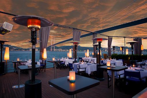 Hotel Reception「Luxurious restaurant and nightclub in Bosporus Istanbul Turkey」:スマホ壁紙(1)