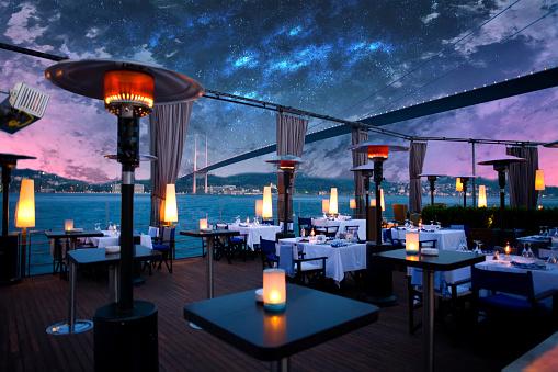 Hotel Reception「Luxurious restaurant and nightclub in Bosporus Istanbul Turkey」:スマホ壁紙(6)