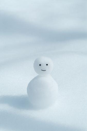 雪だるま「Tiny snowman」:スマホ壁紙(3)