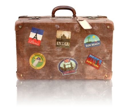 Label「Old Used Suitcase With Travel Stickers」:スマホ壁紙(18)