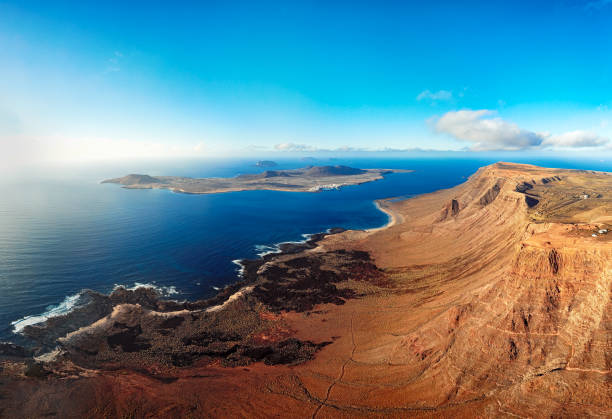 La Graciosa island panorama, Lanzarote, Canary islands:スマホ壁紙(壁紙.com)