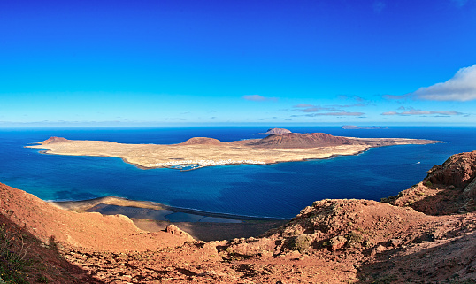 La Graciosa - Canary Islands「La Graciosa island panorama, Lanzarote, Canary islands」:スマホ壁紙(18)