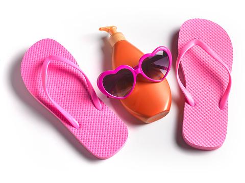 Flip-Flop「VACATION FLIP FLOPS SUNTAN CREAM AND HEART SHAPED SUNGLASSES」:スマホ壁紙(17)
