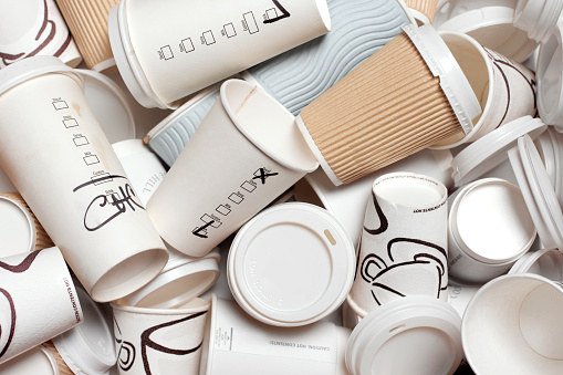 Pollution「UNRECYCLABLE TAKEAWAY COFFEE CUPS」:スマホ壁紙(10)