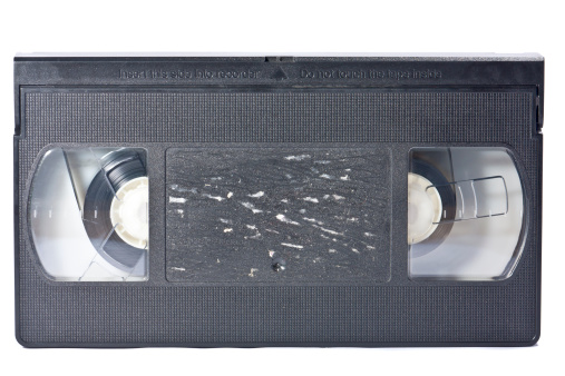 Record - Analog Audio「vintage video tape, cut out on white background」:スマホ壁紙(17)