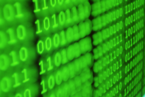Conformity「BINARY NUMBERS ON COMPUTER MONITOR」:スマホ壁紙(9)