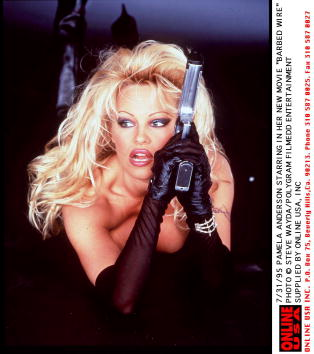 """Barbed Wire「7/31/95 PAMELA ANDERSON STARRING IN HER NEW MOVIE """"BARBED WIRE""""」:写真・画像(0)[壁紙.com]"""