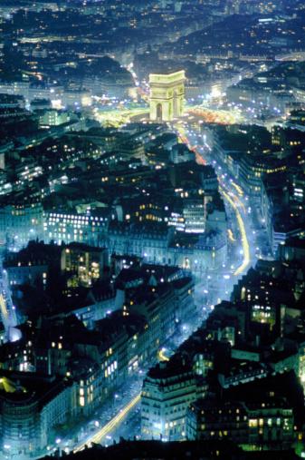 Arc de Triomphe - Paris「ARIAL VIEW OF ARC DE TRIOMPHE, PARIS」:スマホ壁紙(12)