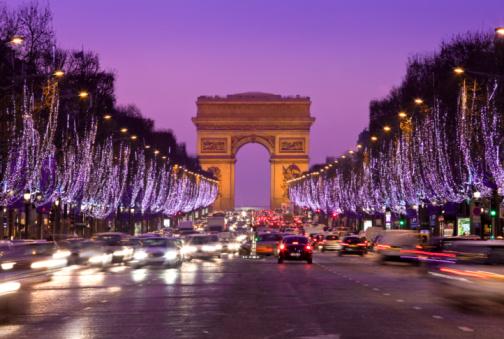 Arc de Triomphe - Paris「PARIS, CHAMPS-ELYSEES ILLUMINATED AT CHRIS」:スマホ壁紙(6)