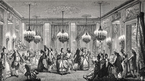 Middle Class「Fancy ball given during the reign of King Louis XVI in a bourgeois household.  Couples dancing the minuet in 18th century fashion / costume.  Rise of the middle class, aspirations to ariscratic standing.」:写真・画像(16)[壁紙.com]