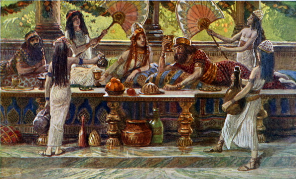 Ancient「Esther feasts with the king by J James Tissot」:写真・画像(5)[壁紙.com]