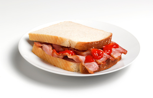 Fast Food「BACON SANDWICH WITH KETCHUP, CLOSE UP」:スマホ壁紙(6)