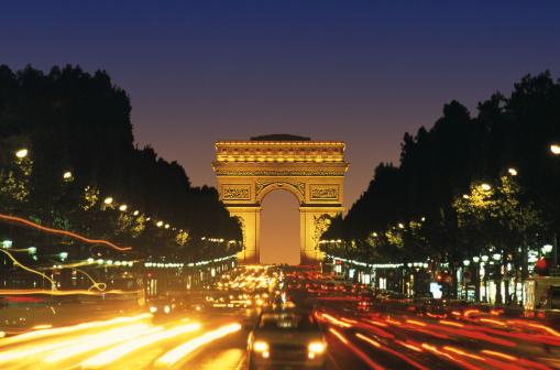 Arc de Triomphe - Paris「CHAMPS ELYSEES AT NIGHT IN PARIS, FRANCE」:スマホ壁紙(6)