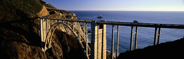 BIXBY BRIDGE AND PACIFIC OCEAN, HIGHWAY ONE, CALIFORNIA:スマホ壁紙(壁紙.com)