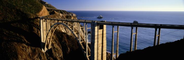 Bixby Creek Bridge「BIXBY BRIDGE AND PACIFIC OCEAN, HIGHWAY ONE, CALIFORNIA」:スマホ壁紙(1)