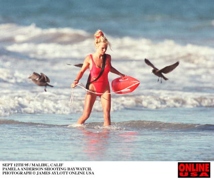 Hollywood - California「SEPT 12TH 95 HOLLYWOOD CALIF PAMELA ANDERSON SHOOTING BAYWATCH.」:写真・画像(1)[壁紙.com]