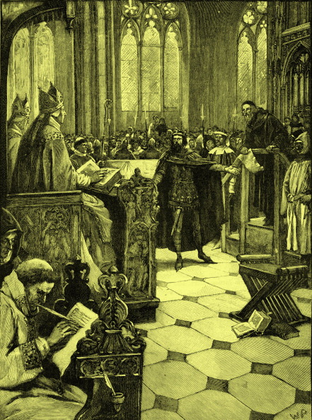 Circa 14th Century「John Wycliffe 's heresy hearing at St Paul 's cathedral」:写真・画像(10)[壁紙.com]
