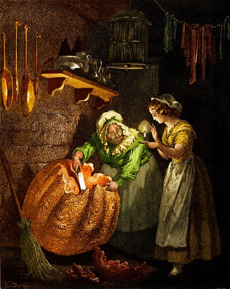 Cinderella「Cinderella: Fairy godmother carving the pumpkin.」:写真・画像(5)[壁紙.com]