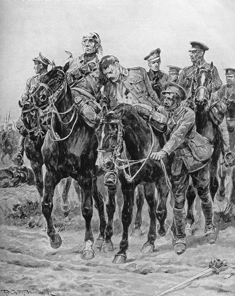 Physical Injury「Wounded British soldiers return on horseback」:写真・画像(9)[壁紙.com]