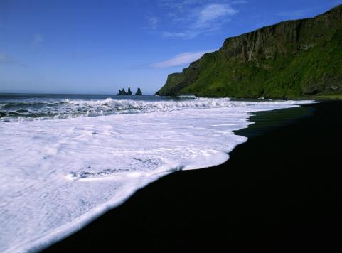 Basalt「BLACK SAND BEACH, VIK, ICELAND」:スマホ壁紙(0)