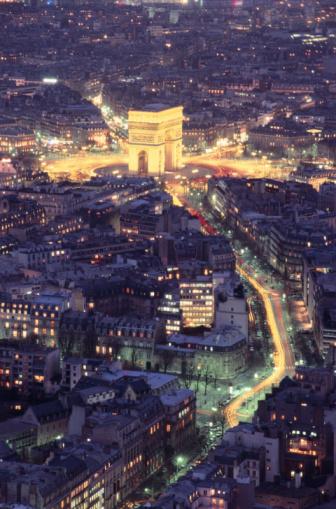 Arc de Triomphe - Paris「ARC DE TRIOMPHE AT NIGHT & CITY IN PARIS」:スマホ壁紙(8)