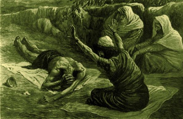 Heap「Job lying on the heap of refuse by J James Tissot」:写真・画像(16)[壁紙.com]