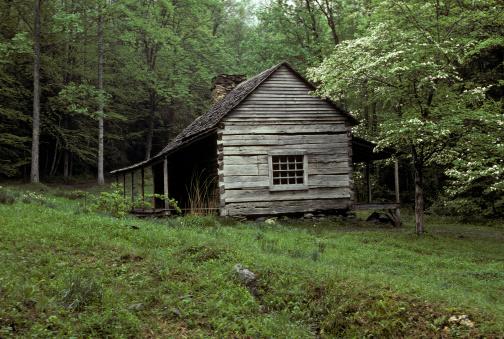 Restoring「NOAH BUD OGLE LOG CABIN (RESTORED). GREAT SMOKY MOUNTAINS NP.」:スマホ壁紙(1)