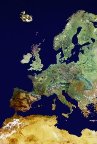 Mediterranean Sea「SATELLITE IMAGE OF UNITED KINGDOM & EUROPE」:スマホ壁紙(14)
