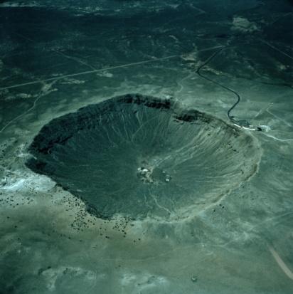 Volcanic Crater「METEOR CRATER, ARIZONA, AERIAL VIEW」:スマホ壁紙(6)