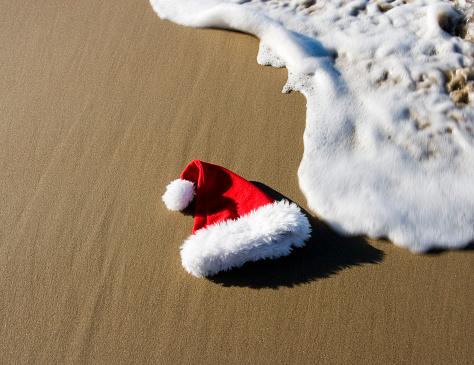 Santa Hat「SANTA HAT ON BEACH」:スマホ壁紙(15)