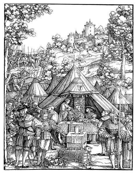 Woodcut「Charles V in a military camp」:写真・画像(10)[壁紙.com]