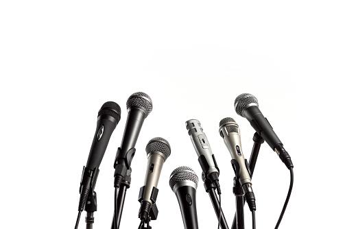 Spoke「CLOSE UP OF PRESS CONFERENCE MICROPHONES」:スマホ壁紙(19)