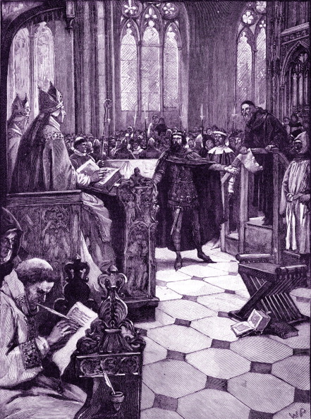 Preacher「John Wycliffe 's heresy hearing at St Paul 's cathedral」:写真・画像(19)[壁紙.com]