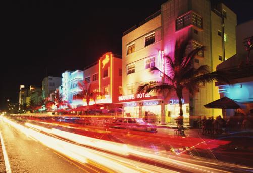 Miami Beach「OCEAN DRIVE IN MIAMI BEACH, FLORIDA」:スマホ壁紙(2)