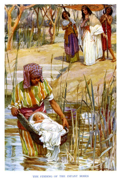 Moses the Prince is found in a cradle:ニュース(壁紙.com)