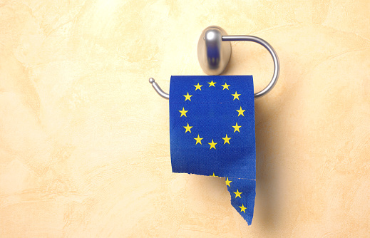 Brexit「TORN EURO TOILET ROLL」:スマホ壁紙(9)