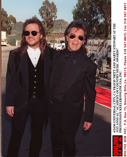 Denny Keeler「4/24/96 UNIVERSAL CITY, CA TRAVIS TRITT AND MARTY STEWART AT THE 31 ANNUAL COUNTRY MUSIC AWARDS」:写真・画像(12)[壁紙.com]