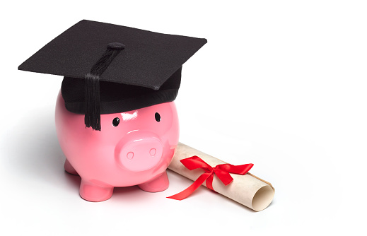 Mortarboard「GRADUATE PIGGY BANK WEARING MORTAR BOARD WITH DIPLOMA」:スマホ壁紙(16)