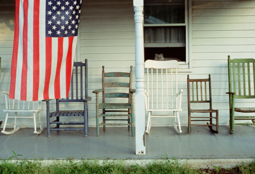 Fourth of July「AMERICAN FLAG ON PORCH WITH CAT」:スマホ壁紙(3)