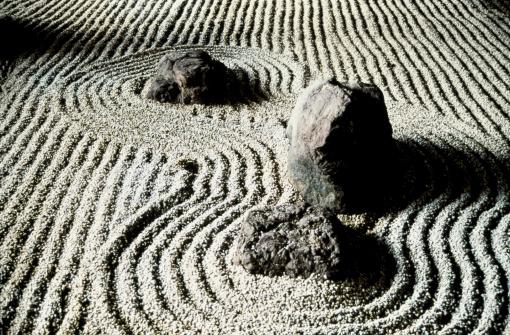 Japanese Rock Garden「STUDY OF ROCKS IN A ZEN GARDEN / JAPAN」:スマホ壁紙(3)