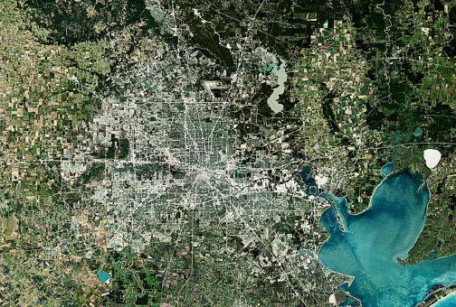 Southern USA「USA, SATELLITE IMAGE, HOUSTON」:スマホ壁紙(7)