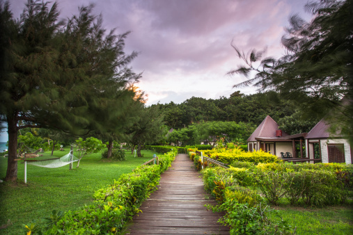 Melanesia「A pathway leads to bungalow accommodation」:スマホ壁紙(18)