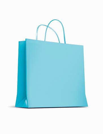 Shopping Bag「Blue shopping Bag」:スマホ壁紙(2)