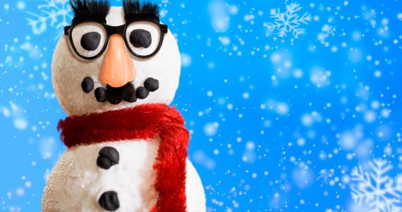 雪だるま「スノーマンマスク付き」:スマホ壁紙(11)