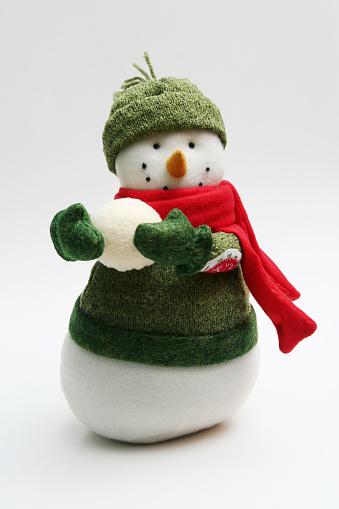 雪だるま「スノーマンと雪玉」:スマホ壁紙(14)