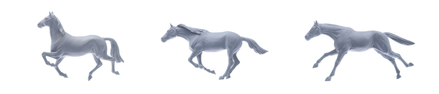 Horse「Three Model Horses Running」:スマホ壁紙(4)